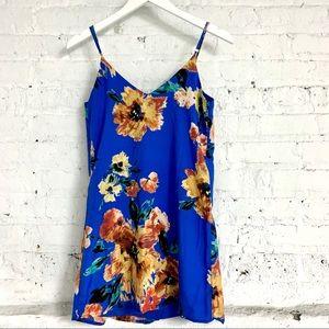Lulu Blue a Floral Mini Dress XS